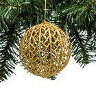 Onbreekbare kerstbal goud 9 cm