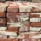 oude stenen gebruikt rood