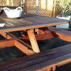 Picknick tafel vierkant hardhout