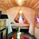 Zirkuswagen aus Holz 600 x 237 x 326 cm Zigeunerwagen