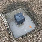 Plaatsten betonpoer in snelcement