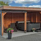 Überdachung Dalfsen 600 x 300 cm mit Loungeset