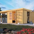 Holzhaus Retola Karibu mit Überdachung