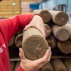 ronde paal gefreesd 12 cm diameter rondhout grenen geimpregneerd 120 mm