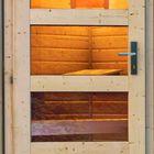 Houten saunahuisje Skrollan 3 DIRECT Karibu 396x231x227cm met voorruimte