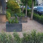 Plantenbak met hoekstuk stapelblokken