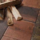 Straksteen wildverband sierbestrating ongetrommeld bruin