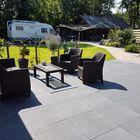 terrastegel plus met deklaag zwart 60x60x4cm