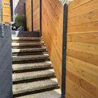 Schutting sleufpaal beton met Lariks Douglas