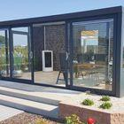gartenzimmer anthrazit aluminium mit schiebewand-system