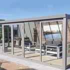 aluminium tuinkamer met openslaande deuren grijs ral 9007