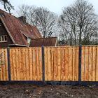 Onderplaat beton antraciet met tuinscherm Red Class Wood