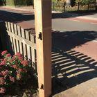 Poortpaal Lariks hout voor hek