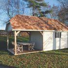 wolfskap dak met cedar shingles