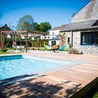 Zwembad met Terrasplank Ipe Hardhout 2.1 x 14.5 cm
