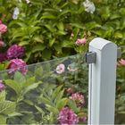 Tuinscherm smal 176 cm hoog glas