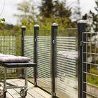 Glazen tuinscherm met opdruk