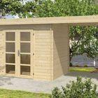 Houten blokhut middelmodern 500 x 200 cm