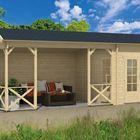 Holz Gartenhaus Kukka 700 x 350 cm