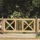 Voorbeeld tuinhek kruis 1800 mm x 750 mm