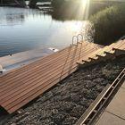 Lames de terrasse en bois dur - 21 mm - Bankirai - Ponton avec escalier