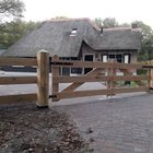 Eikenhout toegangspoort 3 planks