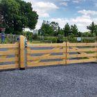 Eiken houten poort 4 planks