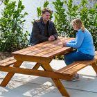 Picknicktafel bankirai groot buiten