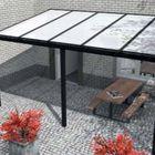 aanbouw veranda aluminium antraciet zwart