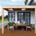 aanbouw veranda douglas hout