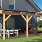 aanbouw veranda lariks hout