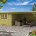 Gartenhaus Charlotta mit Vordach 700 x 300 x 217 cm Imprägniert