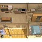 blokhut ollie 3d schets houten woning