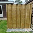 dicht tuinscherm hout