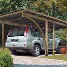 Eco 2 Einzelcarport mit Einfahrtsbogen (optional)