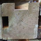 Gleufpaal Hoekpaal geimpregneerd hout 88x88 mm 3 meter