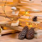 Houten kerstboom naturel voet
