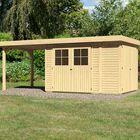 Holzhaus Retola 3 Karibu mit Überdachung