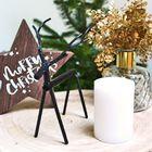 Metalen Hert Zwart Kerstdecoratie