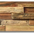 teak houten wandbekleding