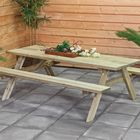 picknicktafel hout extra 200x155x74 cm