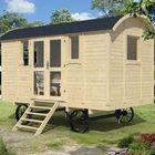 houten pipowagen met zijdeur