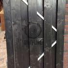 schuttingdeur zwart geverfd