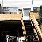 Schuttingplank gebruikt voor bekleding trap