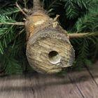 kerstboom stam met boorgat voor Easyfix