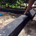 stapel blokken tuin border