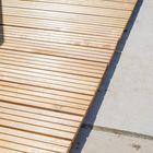 Kurze Terrassendielen Hartholz Schiffsdeck Stil mit Rillen 2,1 x 14,5 cm