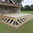 trapbalk geimpregneerd hout verandatrap