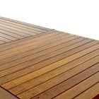 wafel patroon houten terras