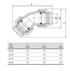 unidelta-knie-45-graden-tekening-20-40